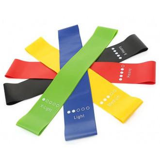 Фитнес-резинка Ленточный XTS Набор резинок для фитнеса различной нагрузки, 5 шт.