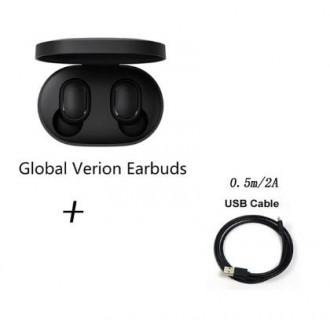 Оригинальные беспроводные наушники Xiaomi Redmi Airdots TWS + microUSB кабель