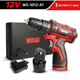 Аккумуляторная дрель-шуруповёрт WOSAI 12V WS-3012-A1 по классной цене