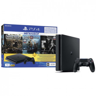 Sony PlayStation 4 Slim 1TB + 3 игры и подписка PS Plus на 3 месяца по отличной цене