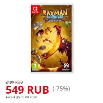 Весёлая игра Rayman Legends: Definitive Edition на Nintendo Switch
