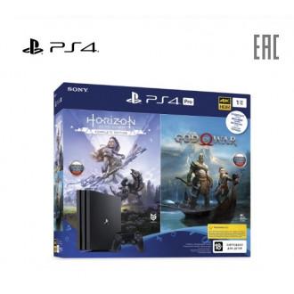 Игровая консоль Sony PlayStation 4 Pro + 2 топовые игры («Horizon Dawn», «GOW»)