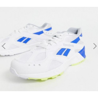 Бело-синие мужские кроссовки Reebok Aztrek