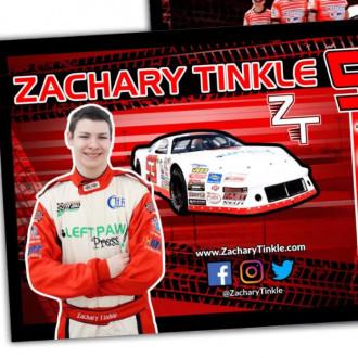 Получаем бесплатные открытки и наклейки от гонщика Zachary Tinkle