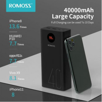 Повербанк Romoss Zeus 40000 mAh PD3.0/QC3.0