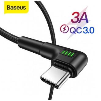 Угловой USB Type C кабель Baseus 50 см