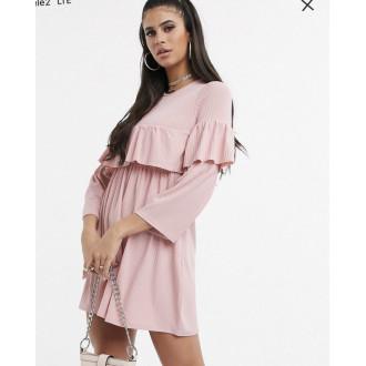 Розовое свободное платье Asos