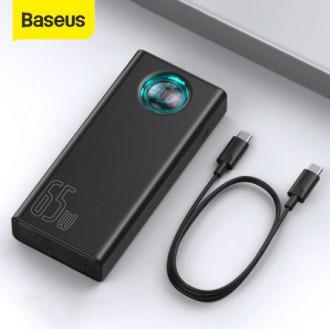 Повербанк Baseus 30000 мАч + кабель 100W в подарок