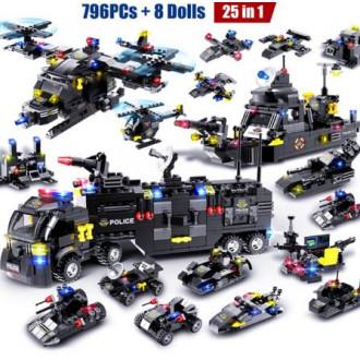 Конструктор HIPAC полицейская станция 796PCs with Dolls