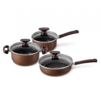 Классный набор посуды Tefal 6 предметов Tendance Brownie