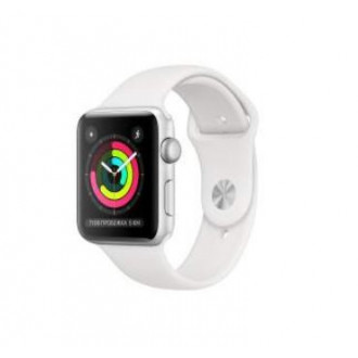 Смарт-часы Apple Watch Series 3 38mm Silver Al/White Sport Band (MTEY2RU/A)