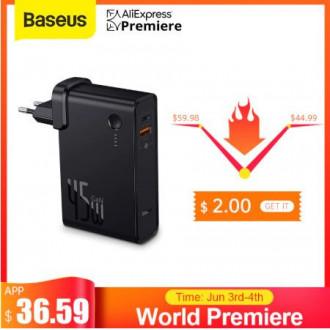 GaN зарядное устройство-повербанк 10000 мАч Baseus