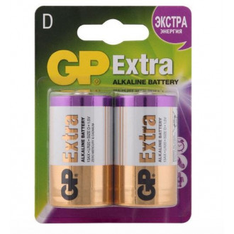 Батарейки GP Extra Alkaline D (LR20), 2 шт.