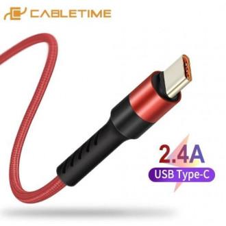 USB Type-C кабель CABLETIME длиной 1м