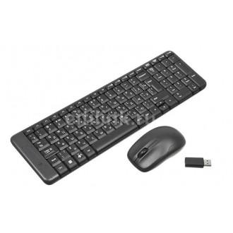 Комплект (клавиатура+мышь) LOGITECH MK220, USB, беспроводной