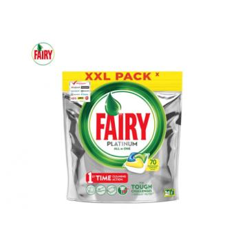 Капсулы для посудомоечной машины Fairy Platinum All in One Лимон 70 шт./уп