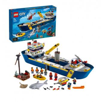 Конструктор LEGO City 60266 Океан: исследовательское судно со скидкой по промокоду