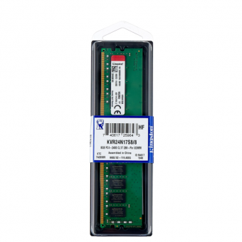 Оперативная память Kingston ValueRAM 8GB DDR4 2400MHz KVR24N17S8/8 по отличной цене