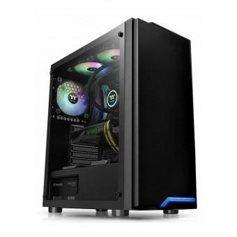 Компьютерный корпус Thermaltake H100 TG CA-1L4-00M1WN-02 в чёрном цвете по скидке