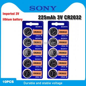 Отличная цена на комплект батареек SONY CR2032 3В 10 шт