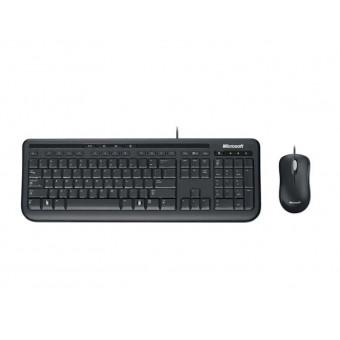 Проводные клавиатура и мышь Microsoft Wired Desktop 600 Black USB со скидкой