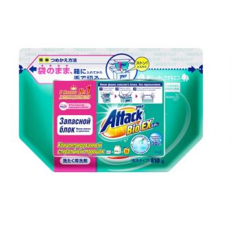 Стиральный порошок Attack Bio EX, пластиковый пакет, 0.81 кг по лучшей цене