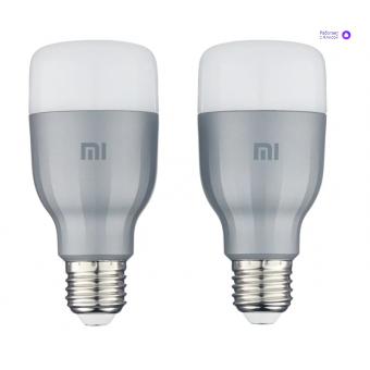 2 лампочки Xiaomi Mi LED Smart Bulb, E27, 10Вт по хорошей цене