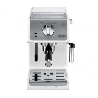 Белая кофеварка рожковая De'Longhi ECP 33.21