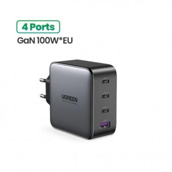 Мощное сетевое зарядное устройство UGREEN GaN на 100 Вт по выгодной цене