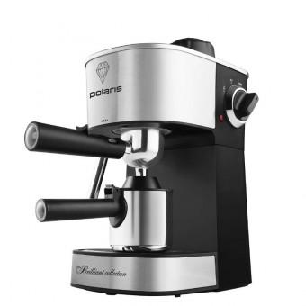 Кофеварка рожковая Polaris PCM 4011 в цвете чёрно-серебристая