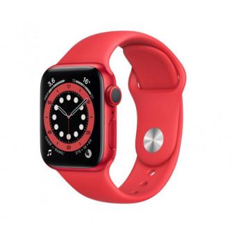 Умные часы Apple Watch Series 6, 40 мм, корпус из алюминия цвета (PRODUCT)RED, спортивный ремешок по классной цене