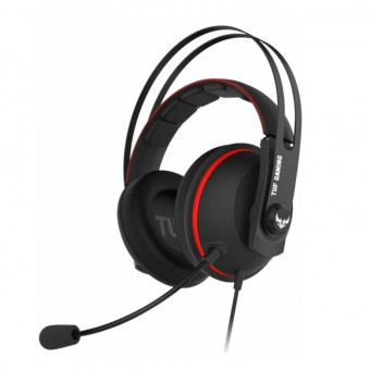 Компьютерная гарнитура ASUS TUF Gaming H7 Core в чёрно-красном цвете по промокоду