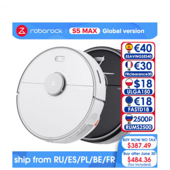 Робот-пылесос Roborock S5 Max по выгодной цене