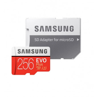 Карта памяти Samsung microSD EVO Plus UHS-I (U3) 256 GB + адаптер на SD по классной цене