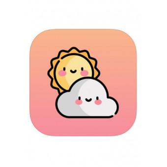 Мимимишный прогноз погоды CuteWeather: weather widget бесплатно для iOS