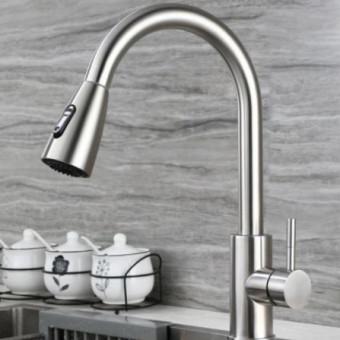 Смеситель для кухни с выдвижным изливом и режимом душ по классной цене