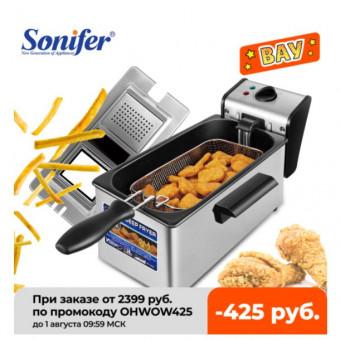 Электрическая фритюрница Sonifer SF1003 на 3 л по хорошей цене