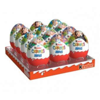 Шоколадное яйцо Kinder Сюрприз Maxi, коробка (12 шт.)