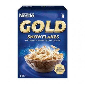 Хлопья кукурузные NESTLÉ GOLD Snow Flakes 300 г по отличной цене при покупке 2 шт