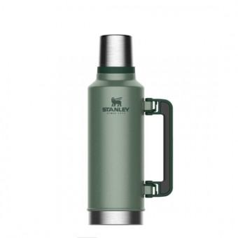 Фирменный термос STANLEY The Legendary Classic Bottle на 1.9л в зелёном цвете