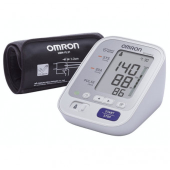 Хороший ценник на тонометр Omron M3 Comfort + адаптер + универсальная манжета (HEM-7134-ALRU)
