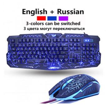 Проводная клавиатура и мышь ZOYA по отличной цене