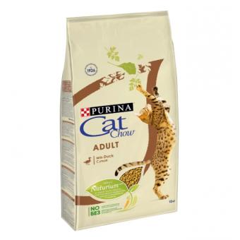 Подборка корма по промокоду для кошек и котов, например, CAT CHOW с уткой 15 кг
