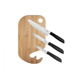 Набор Rondell Jatagan 1244-RD-01, 3 ножа и разделочная доска + подарок по классной цене
