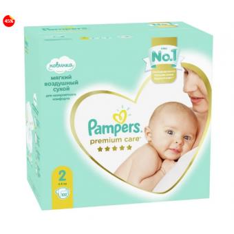 Подгузники Pampers Premium Care 2 (4-8 кг) 102 шт по лучшей цене