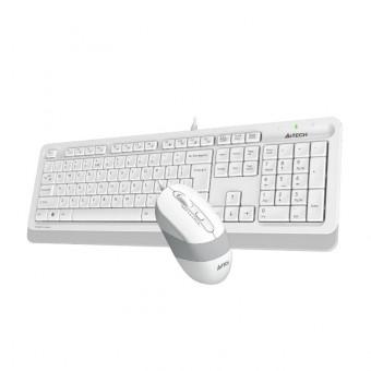 Клавиатура и мышь A4Tech FG1010 беспроводные в белом цвете по промокоду