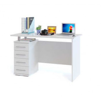 Стол компьютерный СОКОЛ КСТ-106.1 белый по суперцене