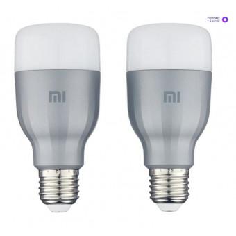 Упаковка светодиодных ламп 2 шт Xiaomi Mi LED Smart Bulb 2-Pack MJDP02YL, E27, 10Вт по крутой цене
