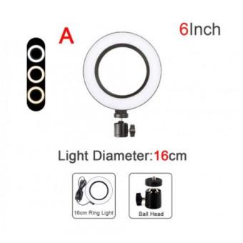 Регулируемый светодиодный кольцевой осветитель QIFU по классной цене