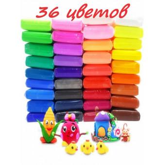 Воздушный легкий пластилин 36 цветов по акции